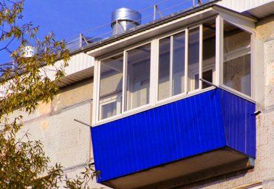 Алюминиевое остекление лоджий и балконов с выносом
