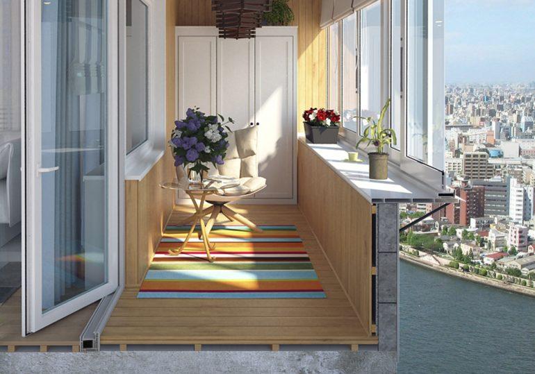 Варианты теплого остекления лоджий и балконов