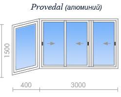 Остекление балкона provedal