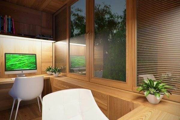 Балкон кабинет с выносом