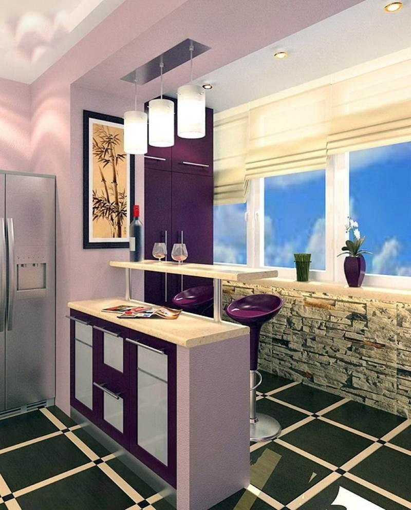 Кухня, совмещенная с балконом,
