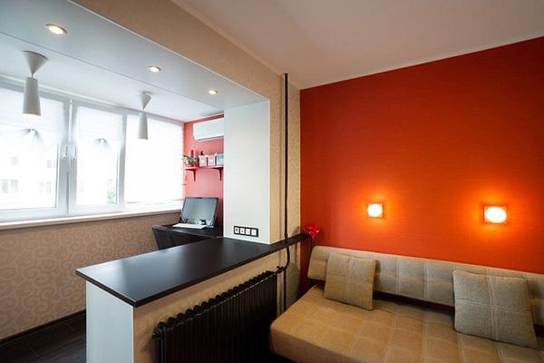 Остекление и утепление с объединением балкона с комнатой