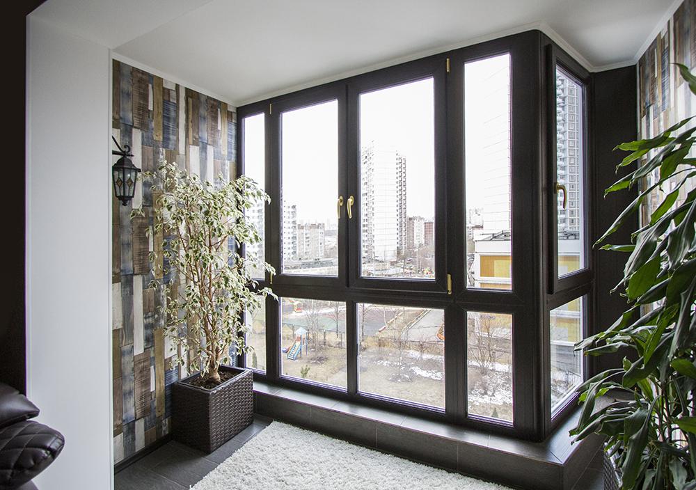 Частичное объединение балкона с кухней