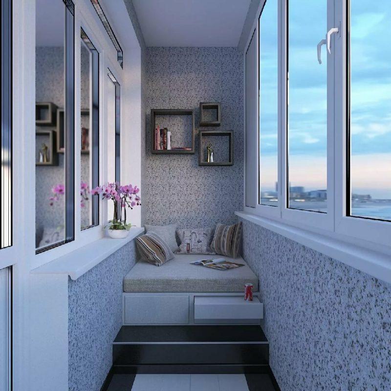 Теплое ПВХ остекление балкона профилем Rehau, KBE, BRUSBOX, Novotex