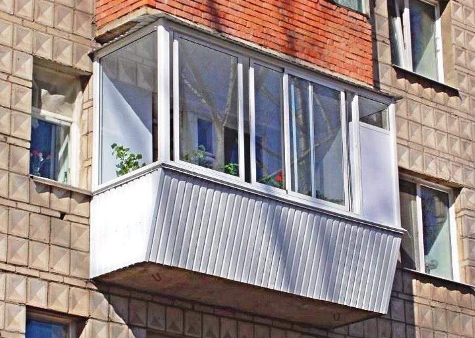 Ремонт балкона - усиление парапета, остекление