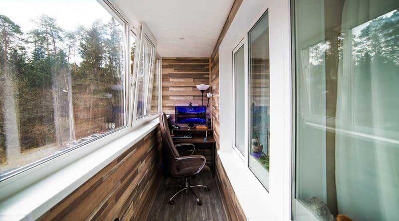 Остекление и отделка балкона 6 метров