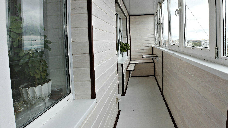 Остекление и утепление балкона с отделкой