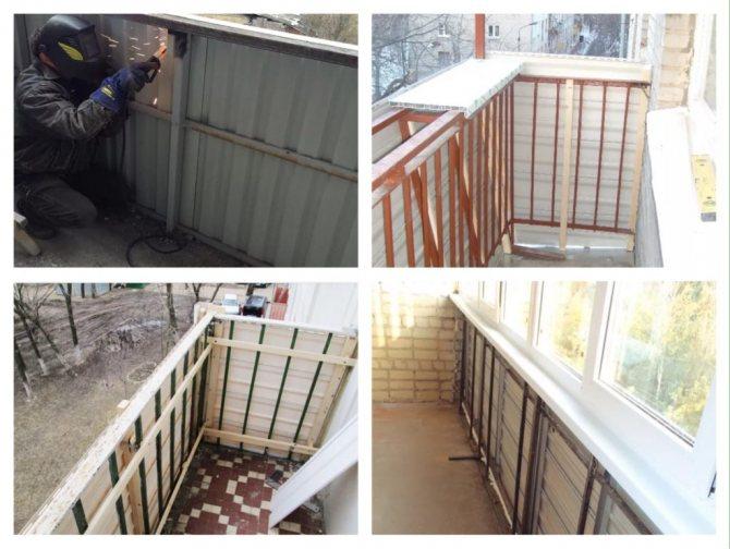 Ремонт парапета балкона - все услуги
